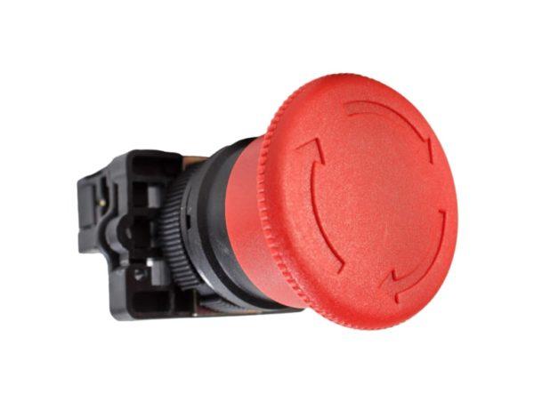 Кнопка «Стоп» в щиток управления люльки