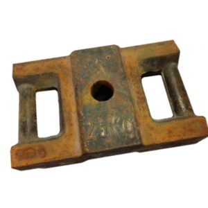 Чугунный противовес 25 кг для строительных люлек
